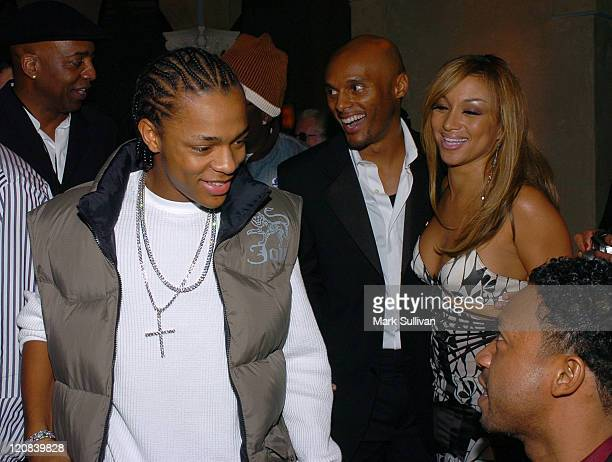 Bow Wow left and Kenny Lattimore and Chante Moore Lattimore background right