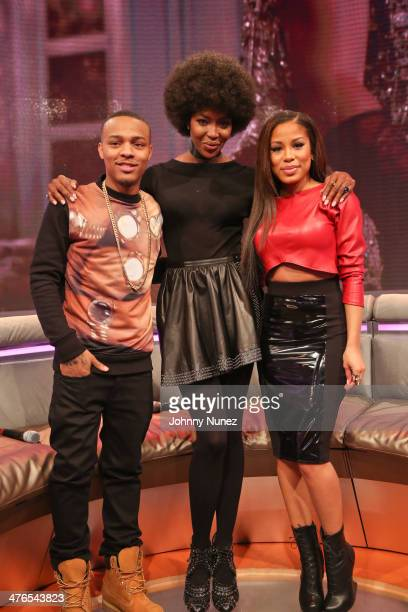 Bow Wow Naomi Campbell and Keshia Chante visit BET's '106 Park' at BET Studios on March 3 2014 in New York City