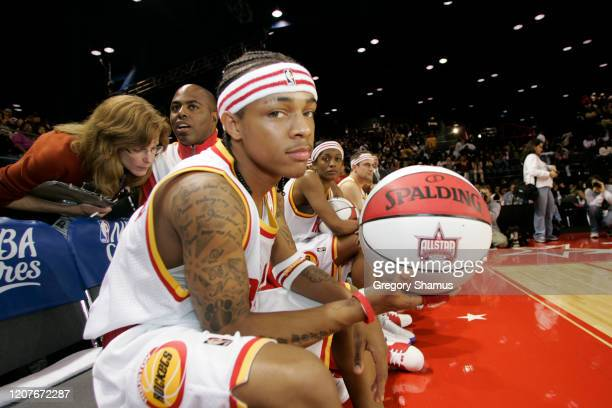 Bow Wow of the Clutch City poses for a photo against the HTown during the McDonald's NBA AllStar Celebrity Game at NBA Jam Session presented by Nokia...