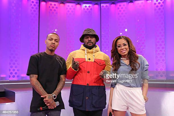 Bow Wow Schoolboy Q and Keshia Chante attend 106 Park at BET Studio on January 21 2014 in New York City