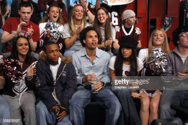Bow Wow Solange Knowles MTV VJ Quddus and MTV VJ Vanessa Minnillo