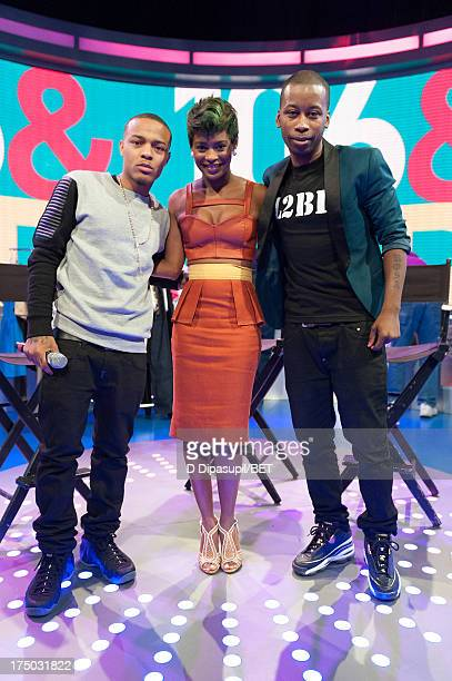 Bow Wow Sonja Williams and Joshua Johnson visit BET's '106 Park' at BET Studios on July 29 2013 in New York City
