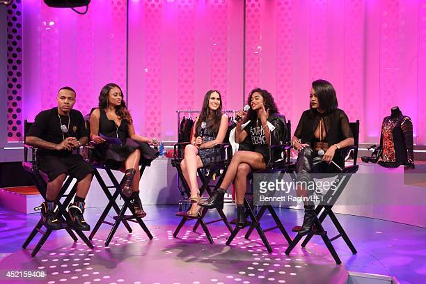 Bow Wow Tahiry Mercedes Sanchez Vashtie and Teyana Taylor visit 106 Park at Bet studio on July 14 2014 in New York City