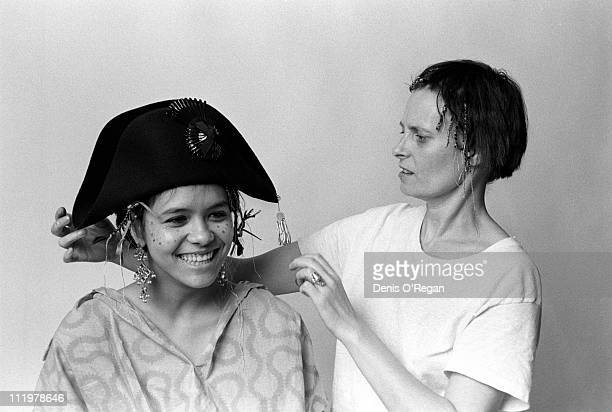 Bow Wow Wow lead singer Annabella Lwin with designer Vivienne Westwood in London 1980 Vivienne's 'Pirate Collection' was adopted by Bow Wow Wow and...