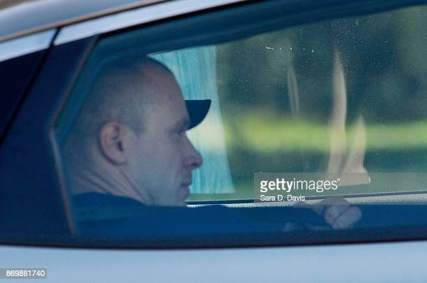 Bowe Bergdahl demoted to Private from Sergeant is transported from the Ft Bragg military courthouse on November 3 2017 in Ft Bragg North Carolina...