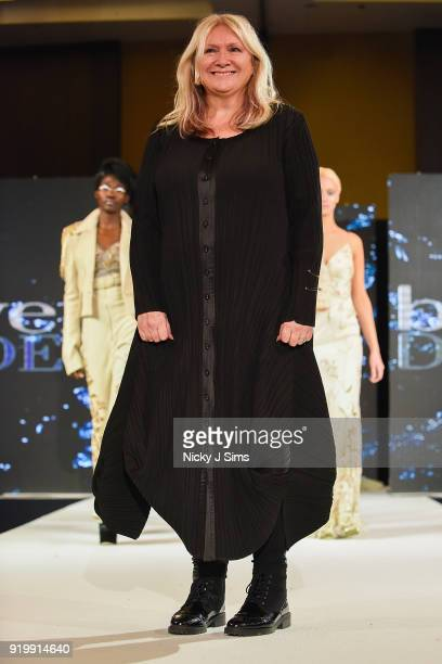 BowenDryden at the House of iKons show during London Fashion Week February 2018 at Millenium Gloucester London Hotel on February 17 2018 in London...