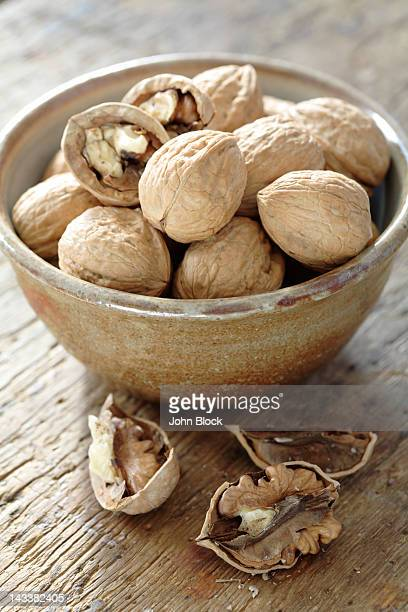 Bowl full of walnuts