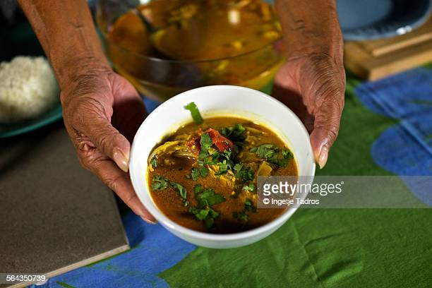 Bowl of Barramandi fish- soup