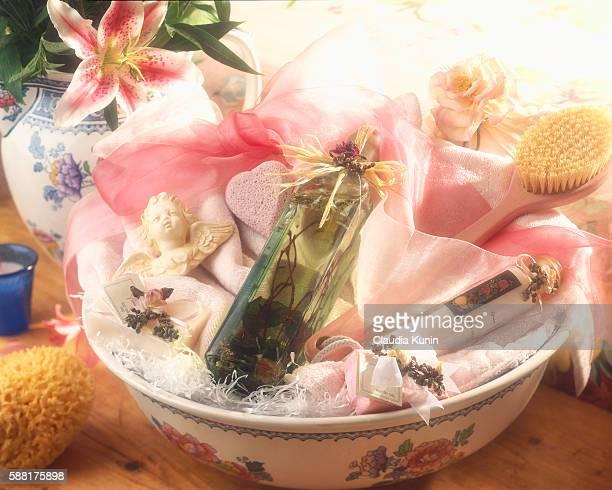 Bowl of Bath Supplies