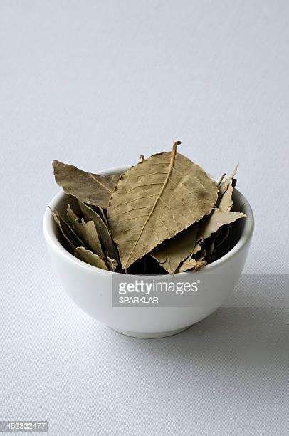 Bowl of bay leaves