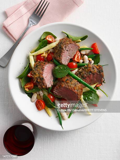 Bowl of beef and vegetables