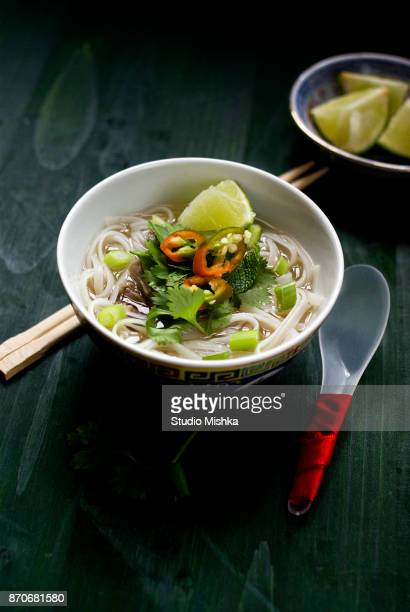 Bowl of Beef Pho Soup