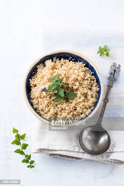 Bowl of boiled quinoa