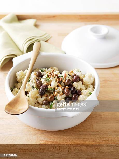 Bowl of cauliflower salad