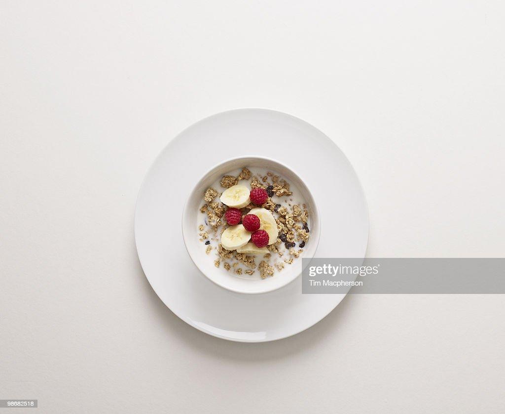 A bowl of cereal : Foto de stock