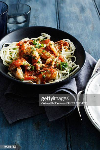 Bowl of chicken and pasta