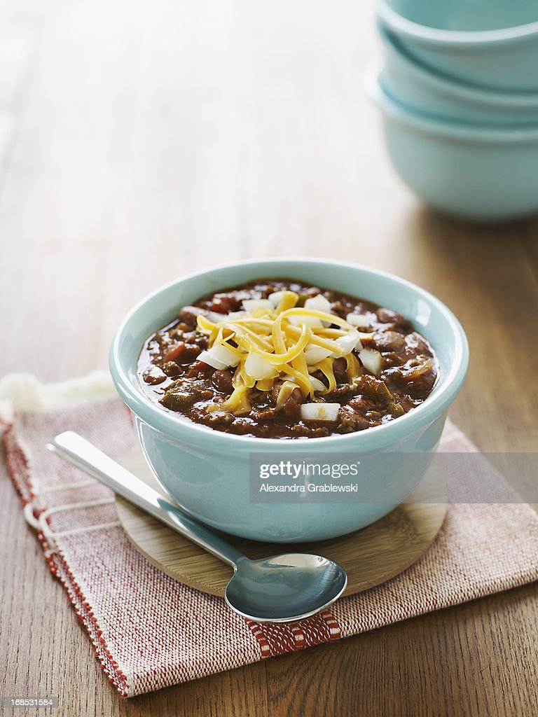 Bowl of Chili : Stock Photo
