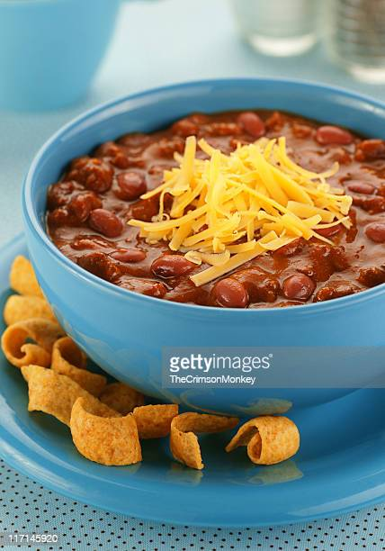 Bowl of Chili with Corn Chips