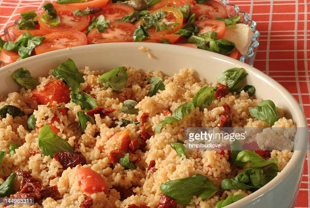 bowl of couscous - couscous stock pictures, royalty-free photos & images