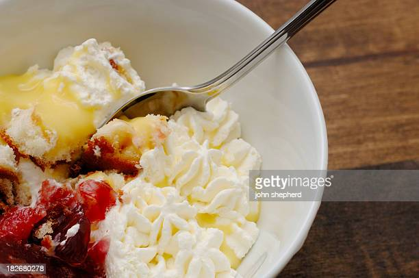 Bowl of dessert fruit trifle