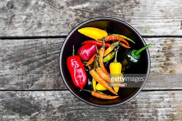Bowl of different jalapenos