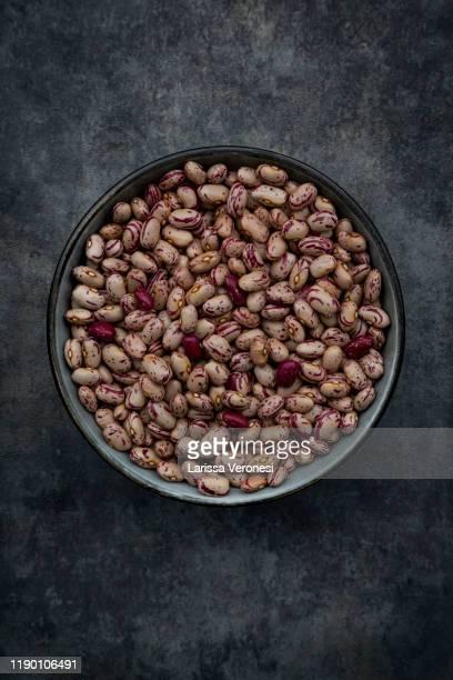 bowl of dried pinto beans - pinto bean - fotografias e filmes do acervo