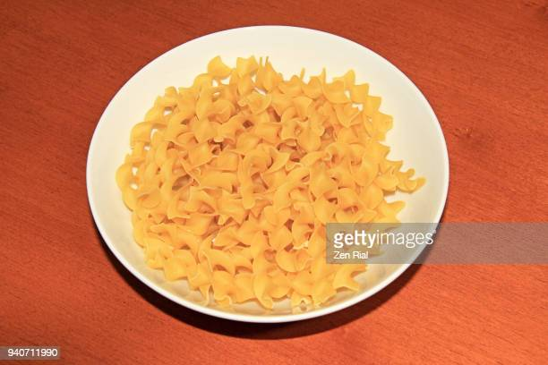 A bowl of enriched Fusilli egg white pasta