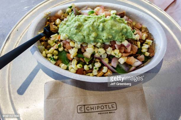 A bowl of food from Chipotle in Miami