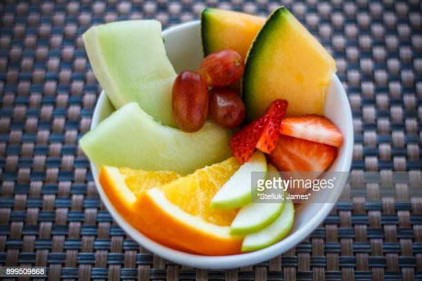 A bowl of fresh fruit