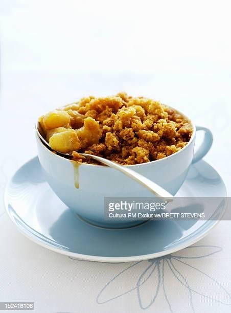 Bowl of fruit crisp