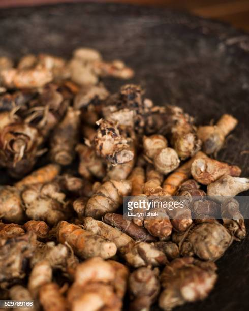 a bowl of ginger - lauryn ishak stock pictures, royalty-free photos & images