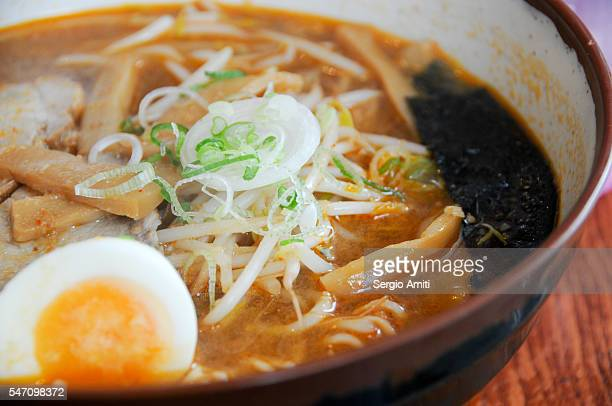 Bowl of Japanese miso ramen
