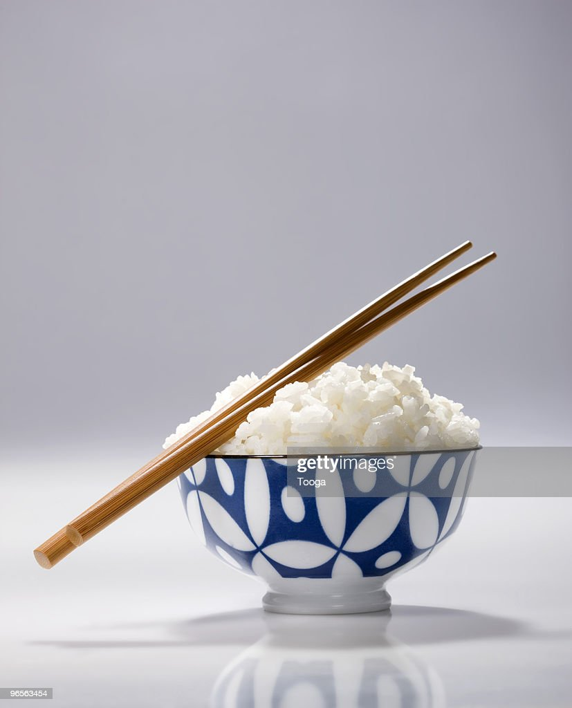 Bowl of Japanese rice : Stock Photo