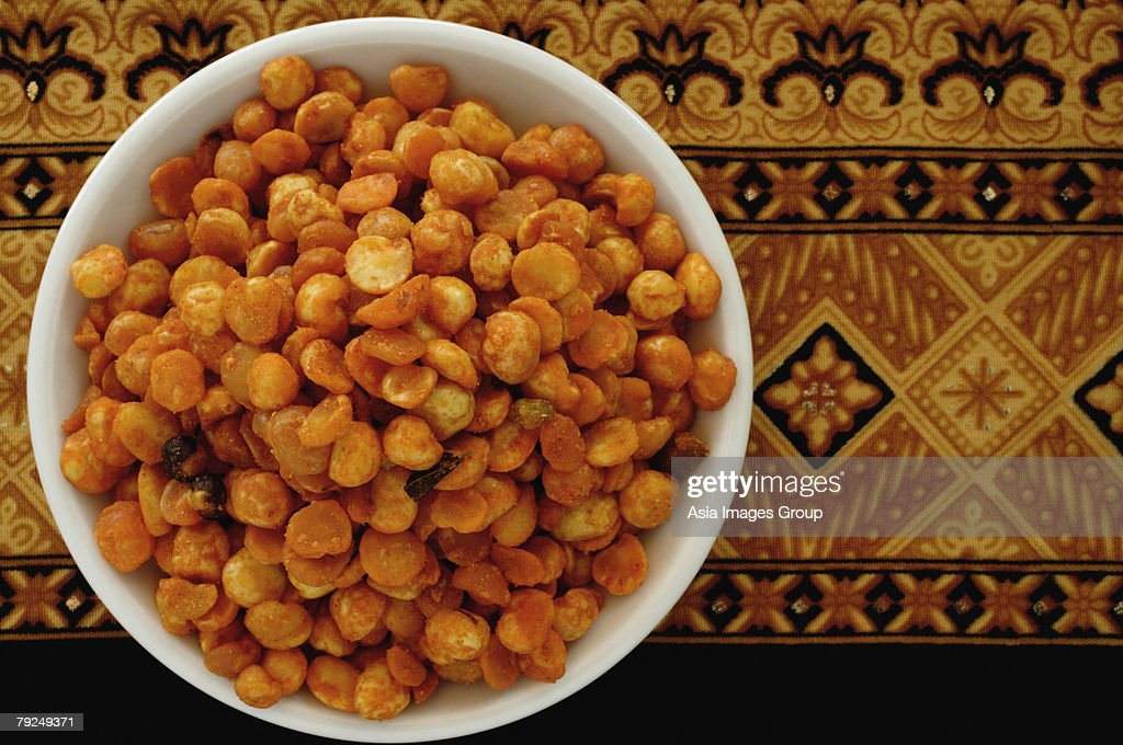 A bowl of Jhajariya : Stock Photo