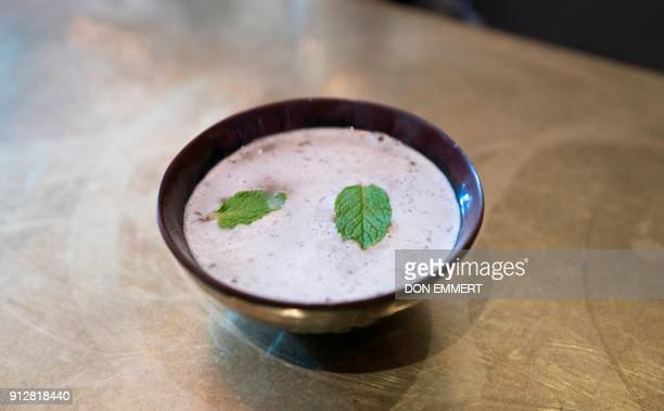 A bowl of Lemon Mint Kava served at Brooklyn Kava January 18 2018 in New York It's been a mainstay in the South Pacific for thousands of years Now...