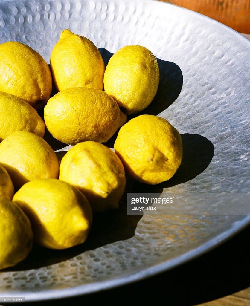 Bowl of Lemons : Stock Photo