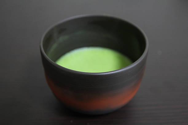 Bowl of matcha tea