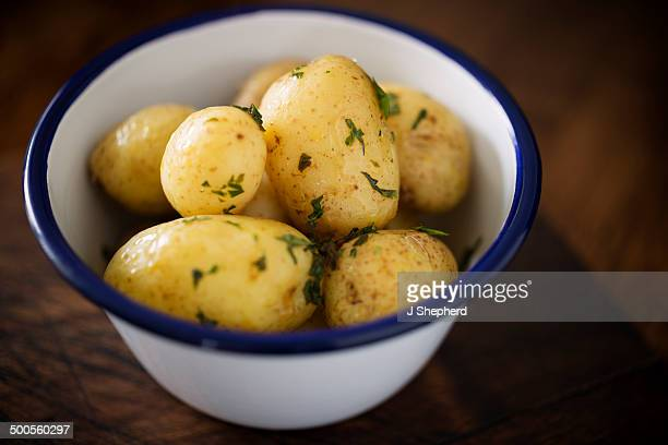 Bowl of new potatoes