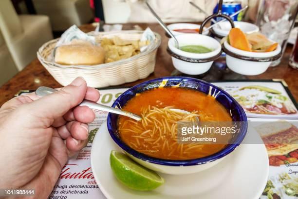 A bowl of noodle soup from La Casa de los Abuelos restaurant