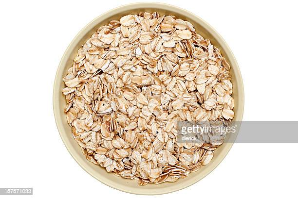 bowl of oatmeal flakes