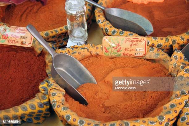 Bowl of orange spices