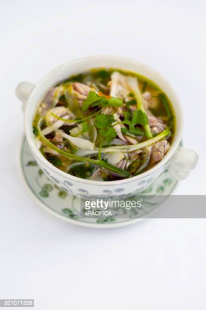 A bowl of Pho at the Hotel Metropole Hanoi