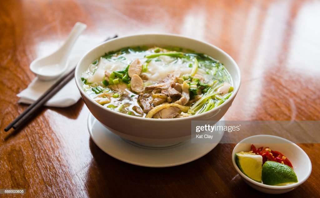 Bowl of Pho Soup : Stock Photo