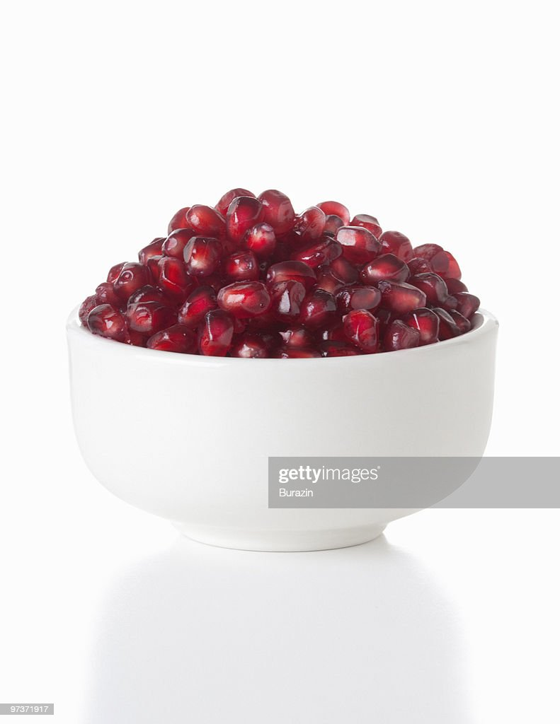 Bowl of Pomegranate seeds : Stock Photo