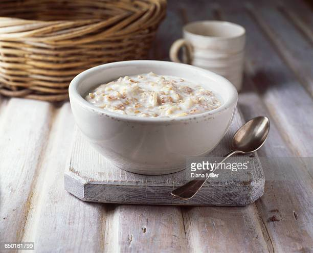 Bowl of porridge, close-up