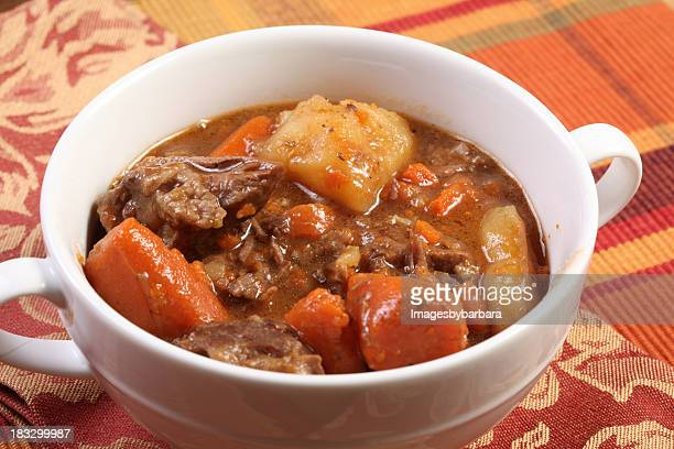 A bowl of stew of comfort food