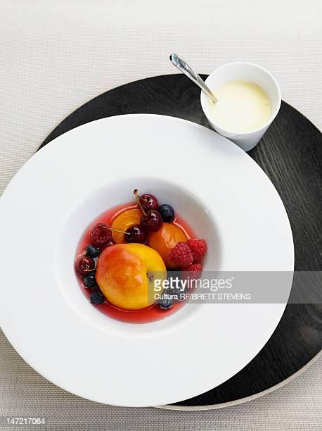 Bowl of stewed fruit