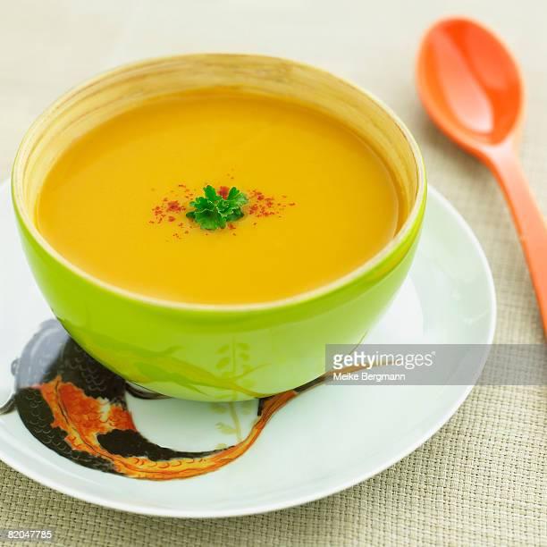 Bowl of sweet potato soup
