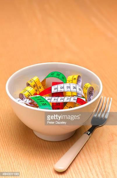Bowl of tape measure pasta
