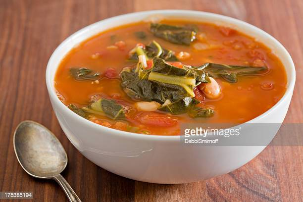 bowl of vegetable soup - vegetable soup stock pictures, royalty-free photos & images